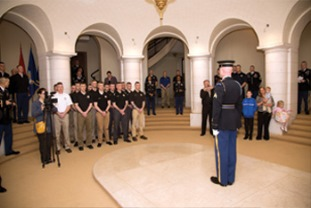 Ceremony at Tomb Guard Quarters - Arlington National Cemetery