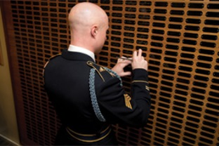 Names on plaques at Arlington National Cemetery