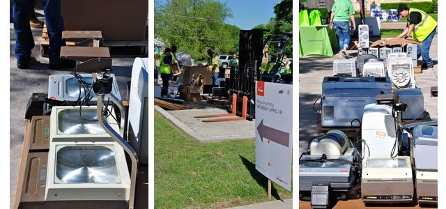 Verizon recycling electronic waste recycling rally in Grapevine, Texas (Credit -- Brandi Reynolds: Trailblazer Photography)