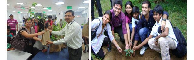Verizon's Green Team in India plants trees