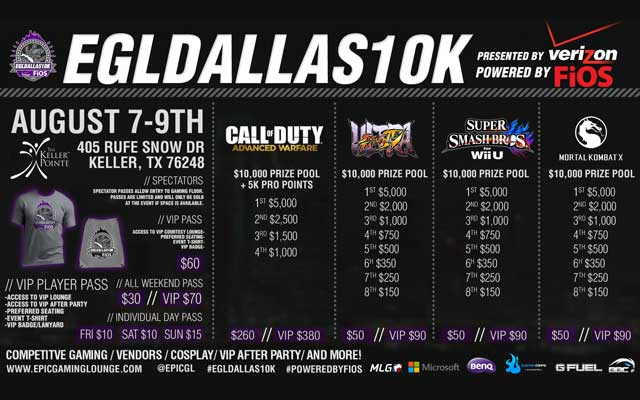 Epic! Gaming Lounge presents the EGLDallas10K