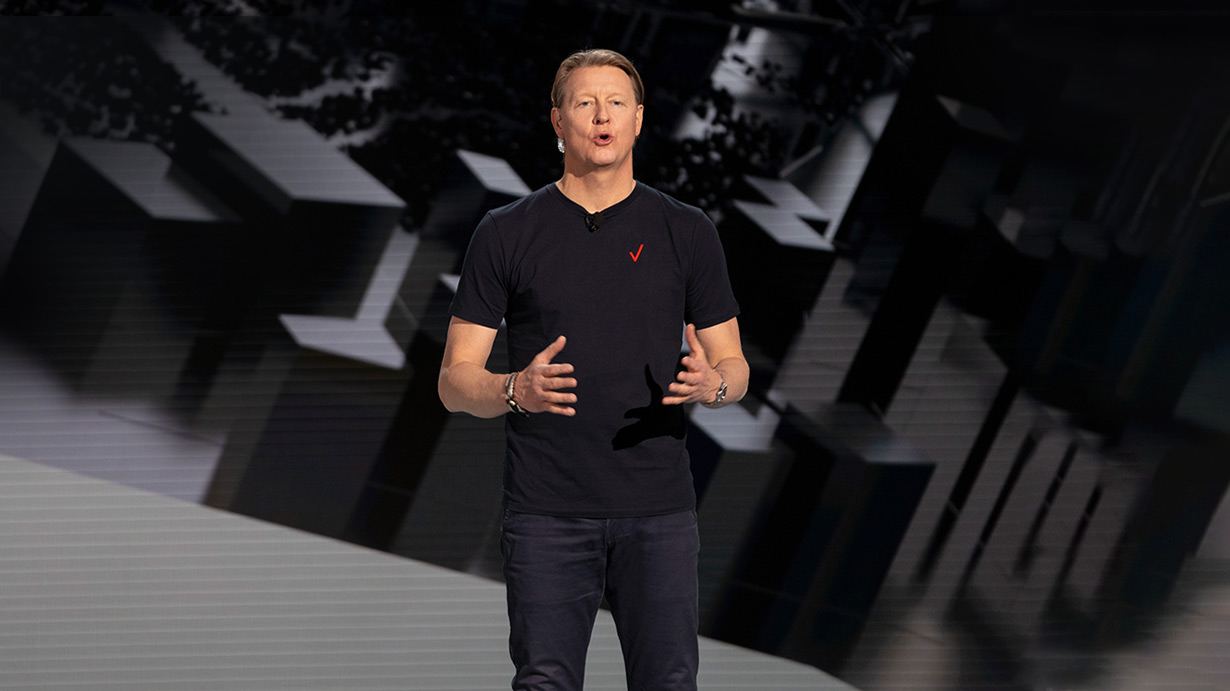 Hans Vestberg on the CES 2021 Verizon Keynote Stage