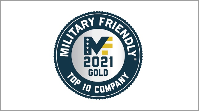 Military Friendly Top 10 Company Gold logo