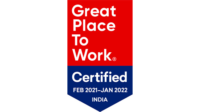 India Great Place to Work Certified logo
