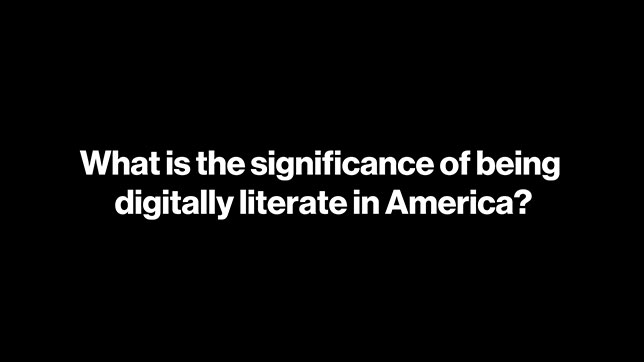 Accelerating America: Digital Literacy Youtube Video