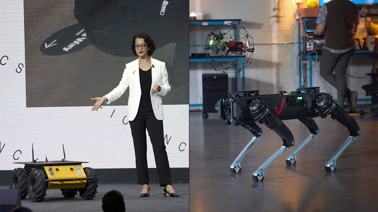 Drones, robots and the power of 5G.