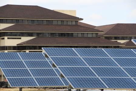 Solar panels at Verizon's corporate center in Basking Ridge