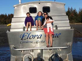 Me and the kids on the back of the elora rae