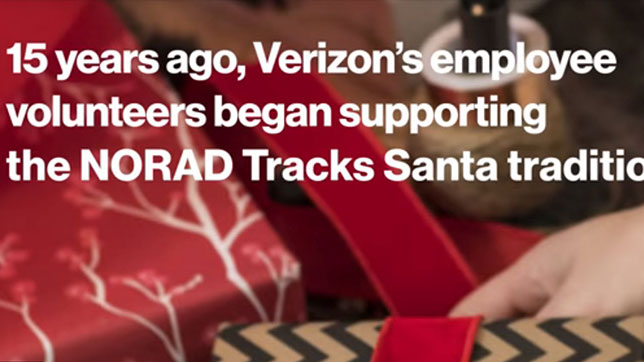 15 years ago, Verizon employee volunteers began supporting the NORAD Tracks Santa tradition