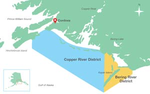Cordova/Prince William Sound area
