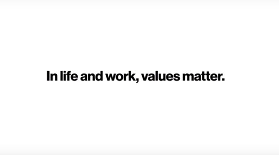 In life and work, values matter