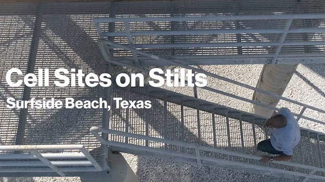 Cell Site on Stilts - Surfside Beach, Texas