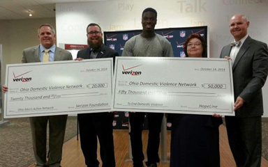 $70,000 grant to Ohio domestic violence network