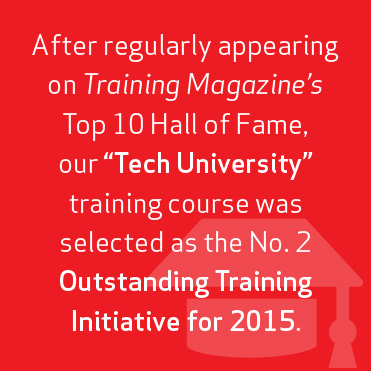 Training Magazine's Top 10 Hall of Fame training course selected no. 2 Outstanding Training Initiative for 2015