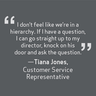 If I have a quesion, I go straight to my director and ask the question. -Tiana Jones