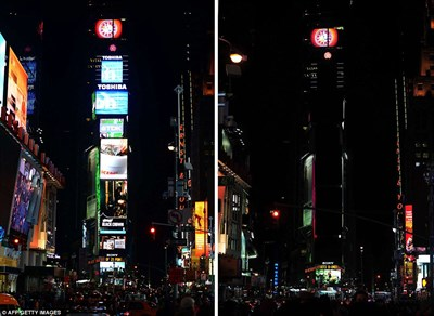 Times Square Earth Hour