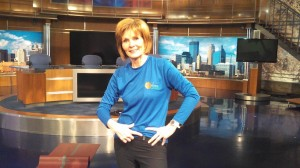 Diana Pierce with FitBit in KARE studio