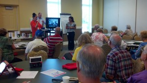 Verizon's Lynette Newman leads a Wireless Workshop for active seniors at...