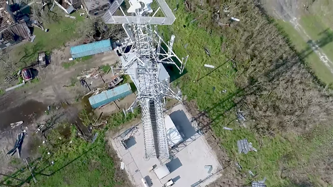 Verizon inspects cell towers with drones in the aftermath of Hurricane Harvey