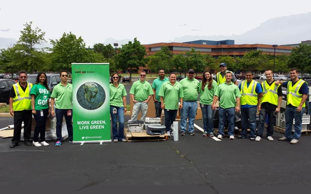 Verizon Recycling Rally in Somerset, New Jersey