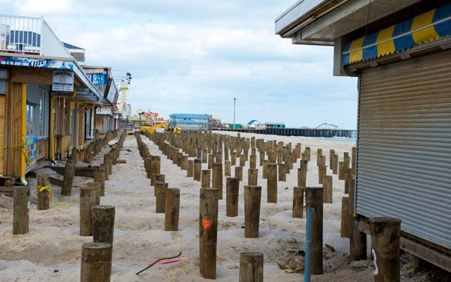 Rebuilding boardwalk