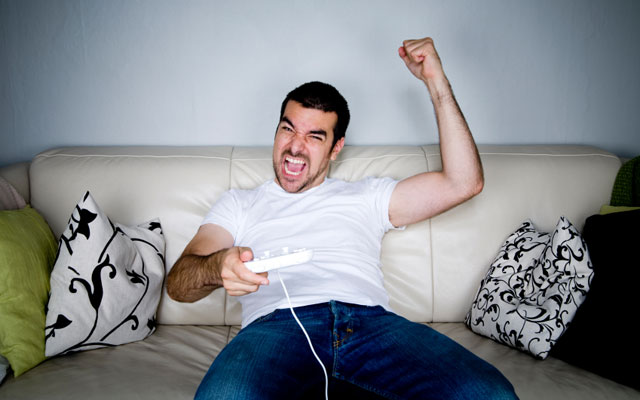 Enthusiastic video game player