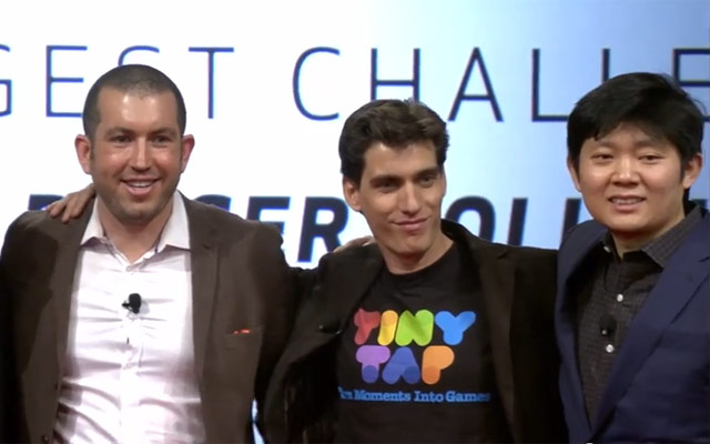 Dan Rosen of Mosaic, Yogev Shelly of TinyTap and Yaopeng Zhou of Smart Vision Labs