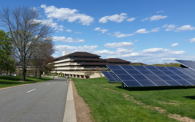 Solar Panels at Verizon campus in Basking Ridge NJ
