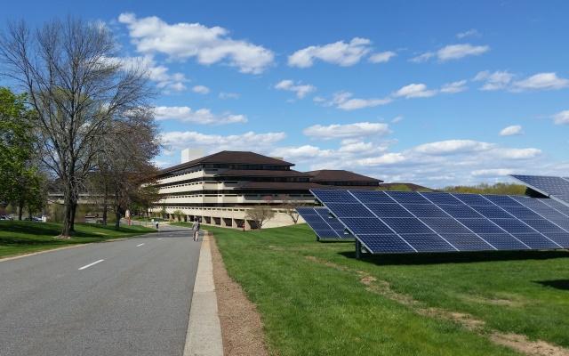 Solar Panels at Verizon campus in Basking Ridge NJ