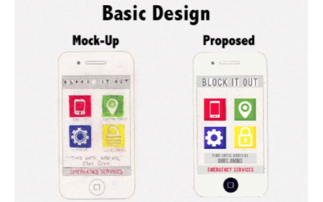 Block It Out app, designed by students at Governor's School @ Innovation Park