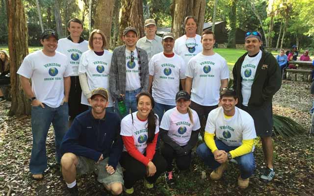 Verizon Green Team at Hillsborough River State Park outside Tampa, Fla.