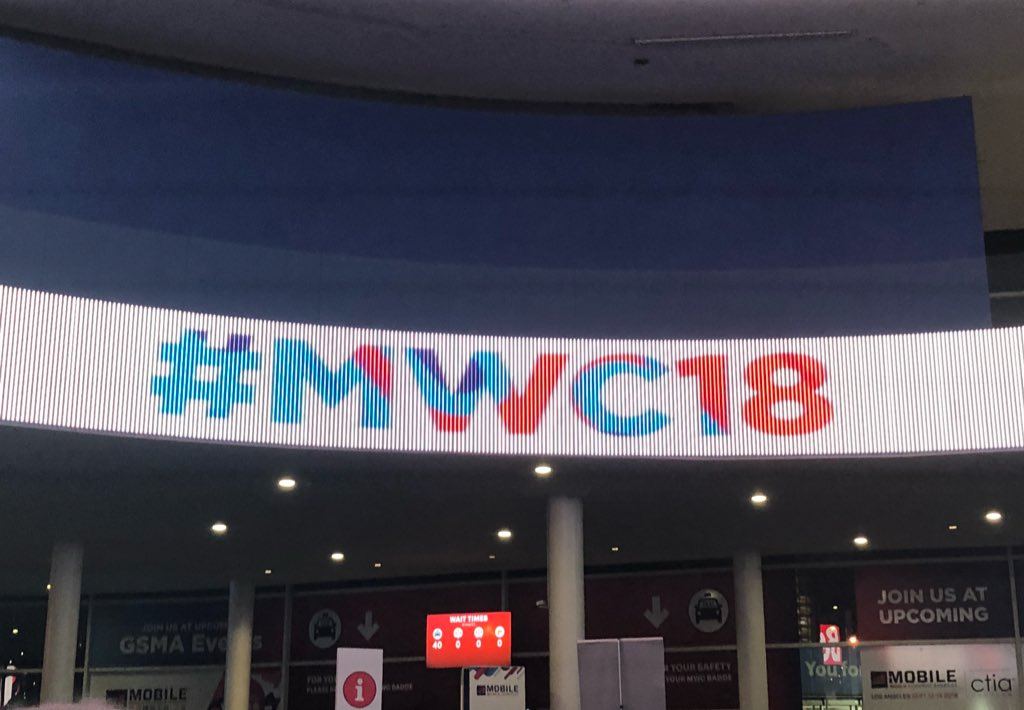 Image of Mobile World Congress banner.