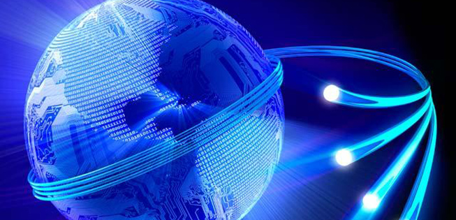 Digital waves encircling the globe