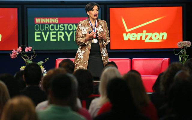Bonnie St. John speaks at Verizon's Diversity & Inclusion Conference
