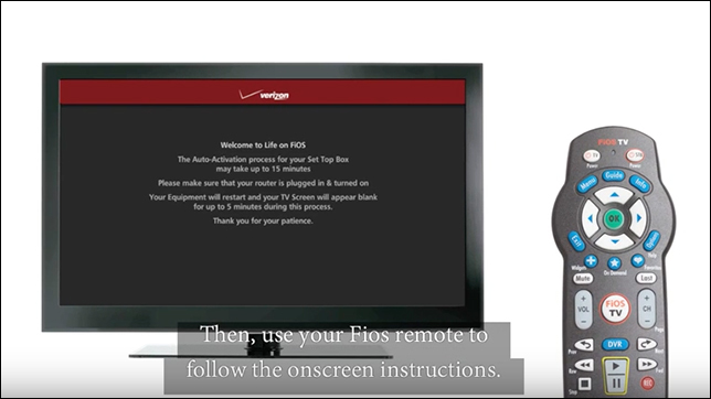 Video of Fios Self Installation with VMS equipment