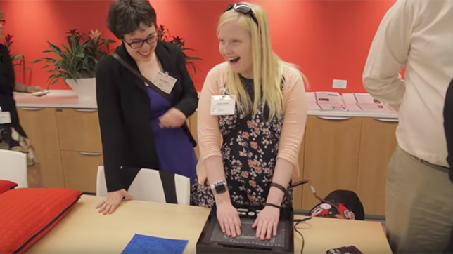 watch video about Verizon and Deafblind Citizens Action host youth advocacy workshop