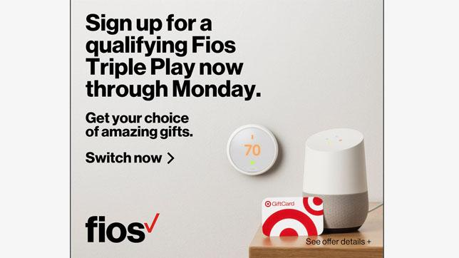 Sign up for a qualifying Fios Triple Play now through Monday