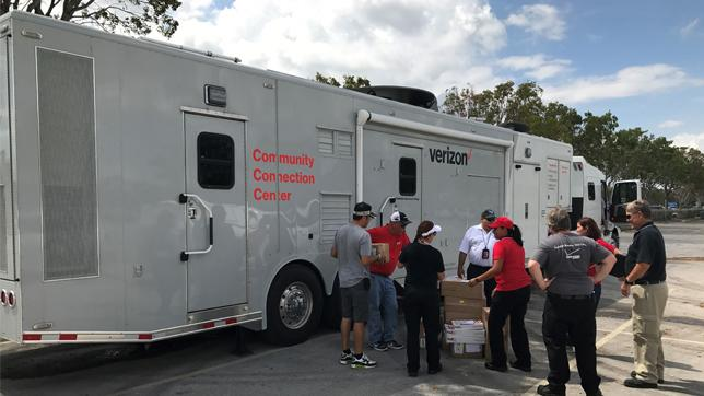 Verizon Disaster Recovery caravan