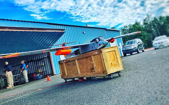 Drone on a crate