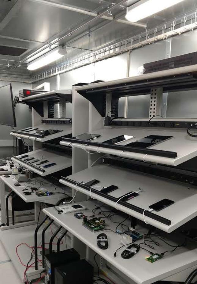 Inside Verizon Device Lab Room
