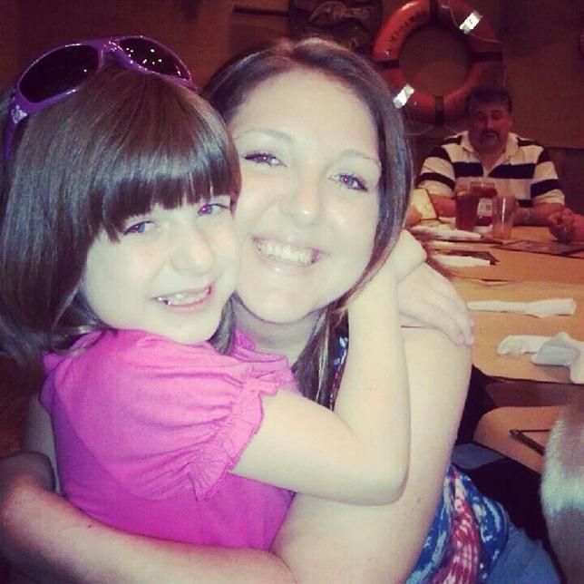 Kari and Brianna hugging