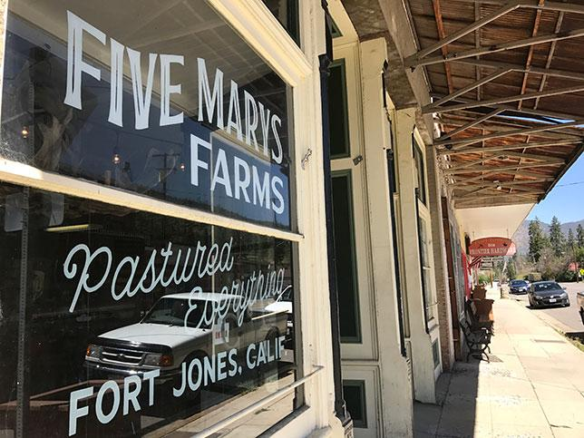 Five Marys Farm store front