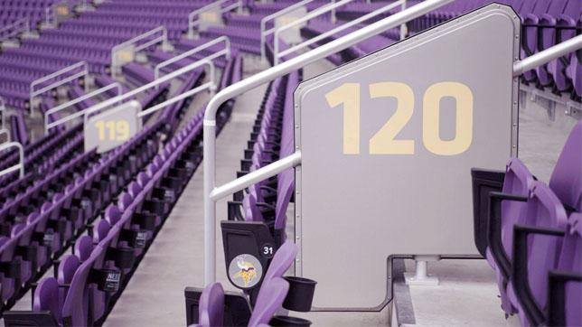 Verizon US Bank Stadium DAS Handrail Antenna
