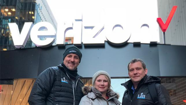 Brian visiting Verizon UP area with Diana Scudder and Cliff Casey