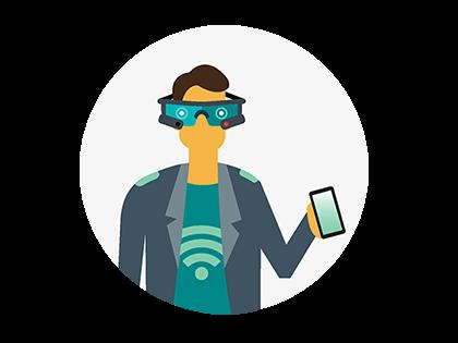 Illustration of VR Man