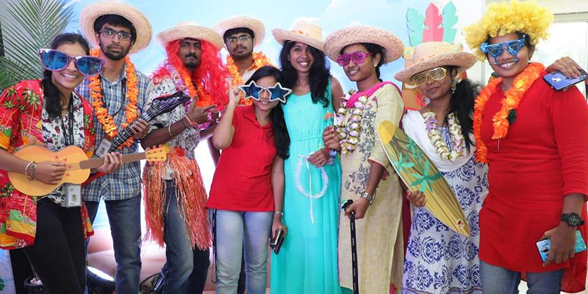 Revelers at the annual GUSTO Carnival – Chennai