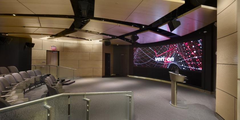 The on-site theater is equipped with technologies that enable immersive demonstrations.