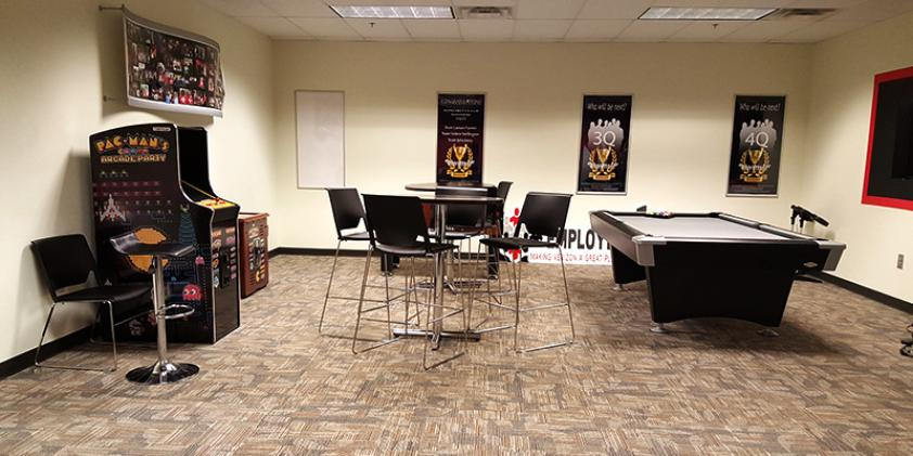The Game Room Is A Good Place To De Stress And Mingle With Colleagues.