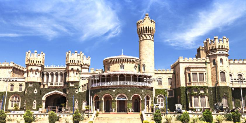 Bangalore Palace, which began construction in 1862.