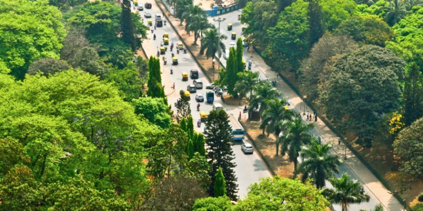 A bird's-eye view of Bangalore streets